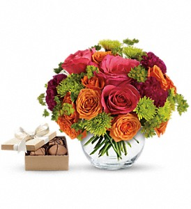 Smile for Me with chocolates in Arizona, AZ, Fresh Bloomers Flowers & Gifts, Inc