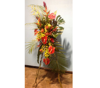 Tropical Easel in Oklahoma City OK, New Leaf Floral Inc