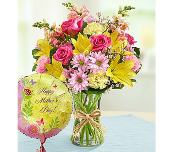 Bouquet and Balloon for Mom in Watertown CT, Agnew Florist