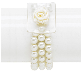 Ivory beaded wristlet in High Ridge MO, Stems by Stacy
