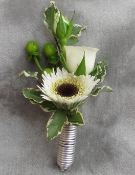 All Wound Up Boutonniere in Crystal Lake IL, Countryside Flower Shop