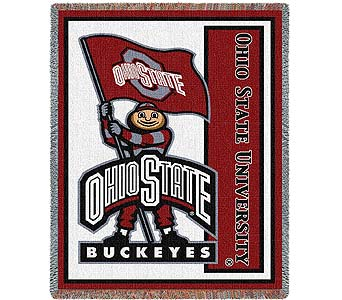 The Ohio State University Mascot Stadium Blanket $65.00 in Westerville OH, Reno's Floral