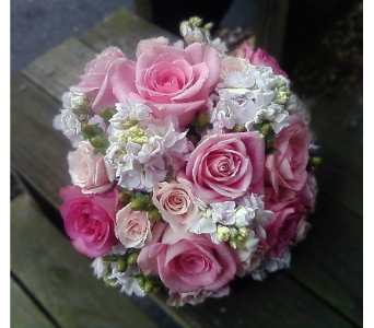 Pink Rose Bouquet in East McKeesport PA, Lea's Floral Shop