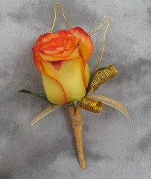 Skeleton Rose Boutonniere in Crystal Lake IL, Countryside Flower Shop