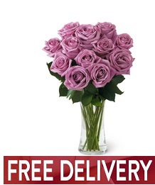 Lavender Rose Bouquet - FREE DELIVERY in Cohasset MA, ExoticFlowers.biz