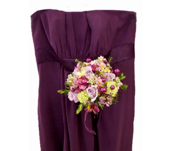 Purple Dress - Handtied in East McKeesport PA, Lea's Floral Shop