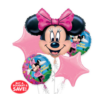 Minnie Mouse 5 Pack Balloon Bouquet in Chatham ON, Pizazz!  Florals & Balloons