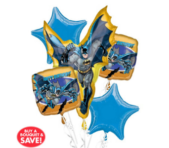 Batman 5 Pack Balloon Bouquet in Chatham ON, Pizazz!  Florals & Balloons