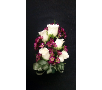 White Tea Rose Wristlet in Rockledge PA, Blake Florists