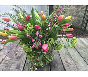 Divine Tulip Bubble Bowl in Ambridge PA, Heritage Floral Shoppe