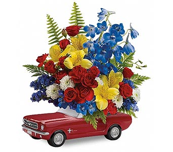 Teleflora's '65 Ford Mustang Bouquet DX in New York NY, CitiFloral Inc.