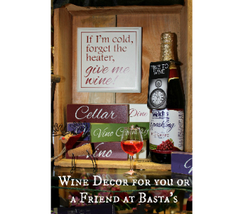 Wine gifts in Ogdensburg NY, Basta's Flower Shop