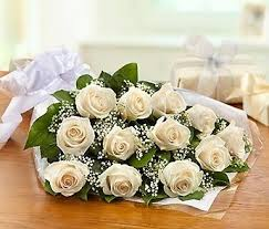 Dozen White Roses Wrapped in Nashville TN, Emma's Flowers & Gifts, Inc.