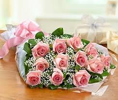 Dozen Pink Roses Wrapped in Nashville TN, Emma's Flowers & Gifts, Inc.