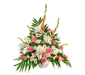Gracious Pink Basket in Indianapolis IN, McNamara Florist