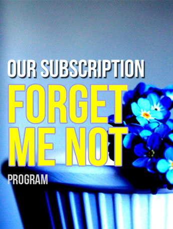 Forget me Not Subscription Program in Clarks Summit PA, McCarthy-White's Flowers