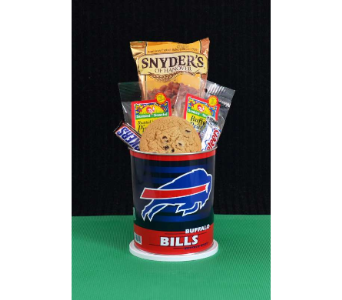 Bills or Sabres Basket (Small) in Depew NY, Elaine's Flower Shoppe