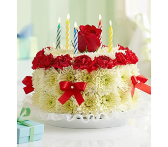 Birthday Flower Cake� Bright in Mission Viejo CA, Conroy's Flowers