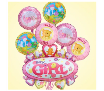 It's a Girl  w/ Oversized Mylar in Princeton, Plainsboro, & Trenton NJ, Monday Morning Flower and Balloon Co.