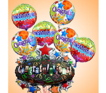 Congratulations Bunch w/ Oversize Mylar in Princeton, Plainsboro, & Trenton NJ, Monday Morning Flower and Balloon Co.