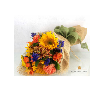 Burlap Blooms 'Let the Sunshine in' in Elmhurst IL, Pfund & Clint Florist