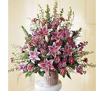 A Tribute of Pinks in Chesapeake VA, Greenbrier Florist