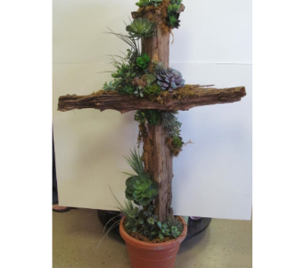 Driftwood Cross in Newton KS, Designs By John Flowers & Tuxedos, Inc