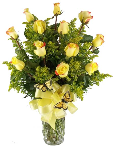 One Dozen Yellow Roses in Fort Myers FL, Fort Myers Florist, Inc.