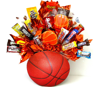CB307 Basketball Fun Candy Bouquet in Oklahoma City OK, Array of Flowers & Gifts