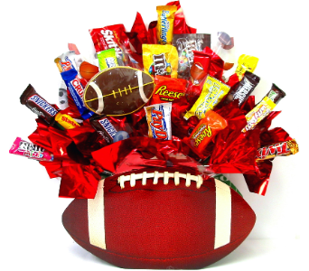 CB306 Football Fun Candy Bouquet in Oklahoma City OK, Array of Flowers & Gifts