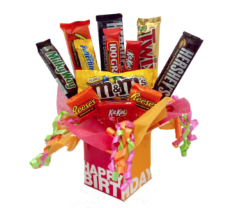 Birthday Candy Bouquet in Stuart FL, Harbour Bay Florist