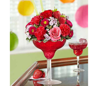 Strawberry Floral Margarita in Elk Grove CA, Flowers By Fairytales
