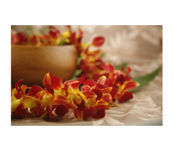 Burgundy Orchid Lei in Upland CA, Suzann's Flowers