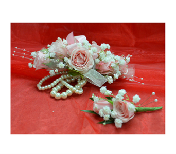 Pinks and Pearls Prom Flowers in Easton MD, Robin's Nest
