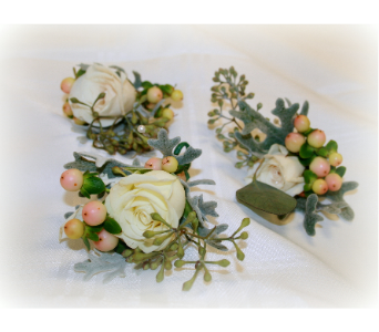 Winter Berry Boutonniere in Asheville NC, Kaylynne's Briar Patch Florist, LLC