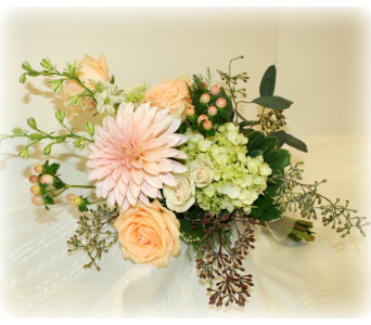 Peachy Sweet Bouquet in Asheville NC, Kaylynne's Briar Patch Florist, LLC