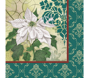 Holiday Greenery Christmas Napkins in Tampa FL, Buds, Blooms & Beyond