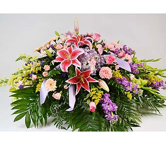 Hummingbird Heaven Casket Spray in Indianapolis IN, Gillespie Florists