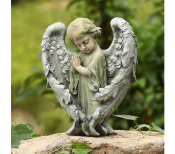 Baby Angel With Wings Statue in Dallas TX, In Bloom Flowers, Gifts and More