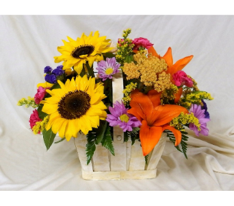 Sunny Sunflowers Basket in Hollidaysburg PA, Warner's Florist Gifts & Greenhouse