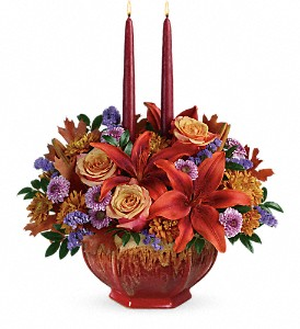 Teleflora's Autumn Ablaze Centerpiece in El Paso TX, Blossom Shop