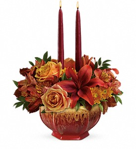 Teleflora's Bounty Of Beauty Centerpiece in Kissimmee FL, Golden Carriage Florist