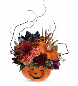 Teleflora's Halloween Magic Bouquet in North Syracuse NY, The Curious Rose Floral Designs