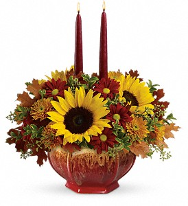 Teleflora's Thanksgiving Garden Centerpiece in Cairo NY, Karen's Flower Shoppe