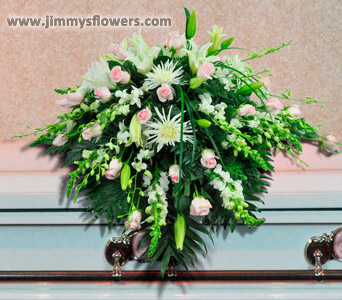 Purity and Peace Casket Spray in Ogden UT, Jimmy's Flowers