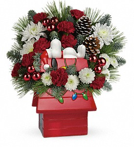 Snoopy's Cookie Jar by Teleflora in El Cajon CA, Jasmine Creek Florist