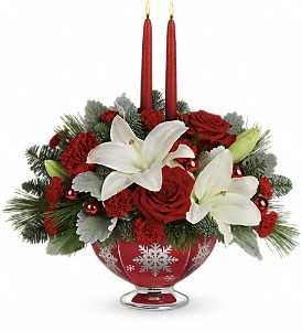 Teleflora's Merry Memories Centerpiece in Grass Lake MI, Designs By Judy