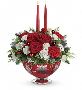 Teleflora's Silver And Joy Centerpiece in Charlotte NC, Byrum's Florist, Inc.