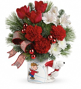 Skating With PEANUTS Mug by Teleflora in Naperville IL, Naperville Florist