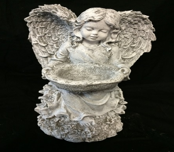 Standing Angel with Bowl in Amelia OH, Amelia Florist Wine & Gift Shop
